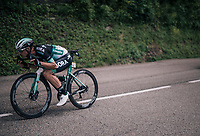 Rüdiger Selig (DEU/BORA-hansgrohe) bombing the descent<br /> <br /> Stage 5: Grenoble > Valmorel (130km)<br /> 70th Critérium du Dauphiné 2018 (2.UWT)
