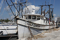 Remnants of the once large and famous Key West shrimp boat fleet decimated by shrimp imports from Asia