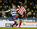 Lys Mousset of Sheffield Utd challenges Michael Morrison of Reading during the FA Cup match at the Madejski Stadium, Reading. Picture date: 3rd March 2020. Picture credit should read: Simon Bellis/Sportimage