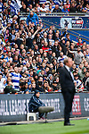 Queens Park Rangers 1 Derby County 0, 24/05/2014. Wembley Stadium, Championship Play Off Final. Queens Park Rangers support behind Harry Redknapp during the Championship Play-Off Final between Queens Park Rangers and Derby County from Wembley Stadium. Queens Park Rangers won the game 1-0 to gain promotion to the Premier League.  Photo by Simon Gill.
