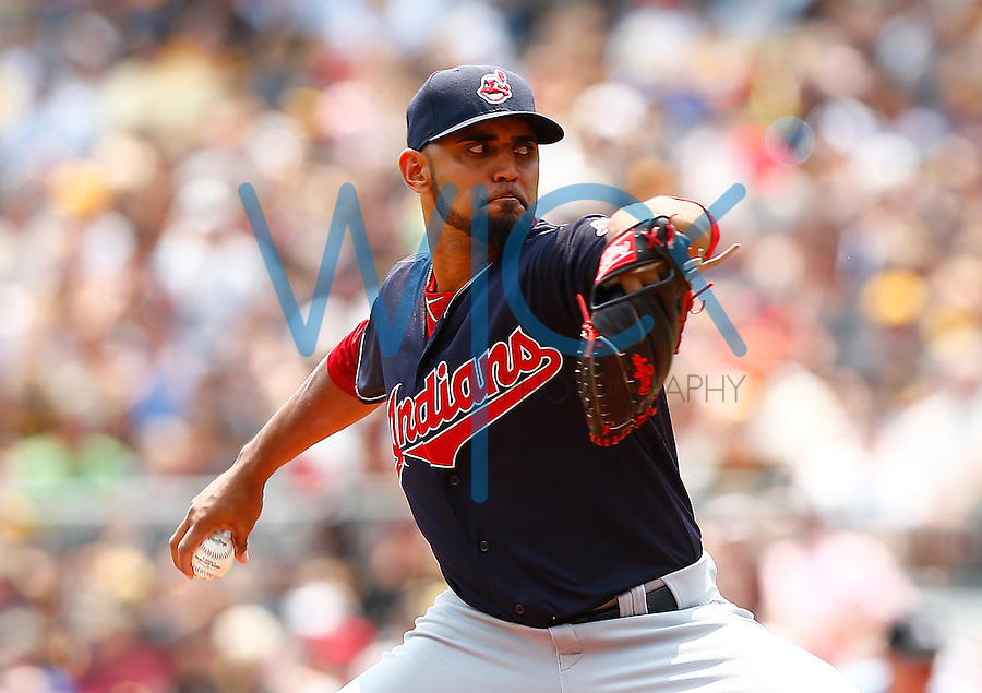 PITTSBURGH, PA - JULY 05:  Danny Salazar #31 of the Cleveland Indians pitches against the Pittsburgh Pirates during the game at PNC Park on July 5, 2015 in Pittsburgh, Pennsylvania.  (Photo by Jared Wickerham/Getty Images)