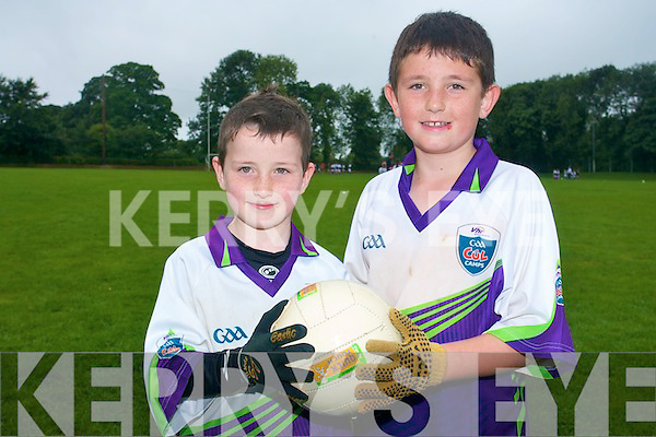 Enjoying Currow Cu?l Camp at Currow GAA grounds were friends  Padraig Hilliard and Aaron Fleming.