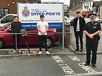 2020 07 22 Three teenagers hailed heros by police in Llanelli, Wales, UK.