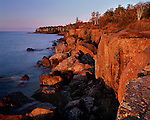 Lake Superior shoreline, Gooseberry Falls State Park, Minnesota