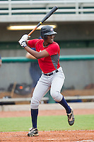 Brian Ragira #18 of Team Red at bat against Team Blue during the USA Baseball 18U National Team Trials at the USA Baseball National Training Center on June 30, 2010, in Cary, North Carolina.  Photo by Brian Westerholt / Four Seam Images