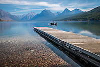 Lake McDonald is the largest lake in Glacier National Park and is approximately 10 miles long, and over a mile wide and 472 feet deep, filling a valley formed by a combination of erosion and glacial activity. Lake McDonald lies at an elevation of 3,153 feet. The Going-to-the-Sun Road parallels the lake along its southern shoreline. The surface area of the lake is 6,823 acres.