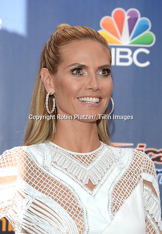 "Heidi Klum attends the kick off  of Season 9's live voting rounds of ""America's Got Talent""  at Radio City Music Hall on July 29, 2014 in New York City."