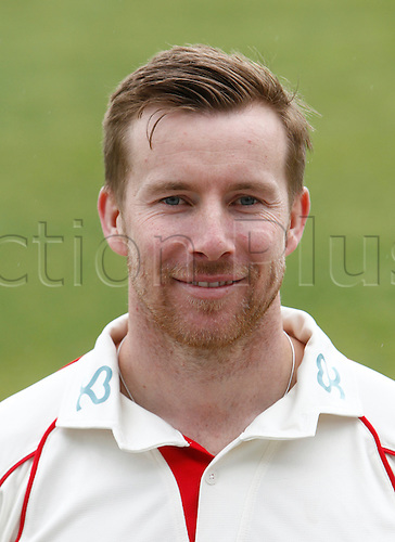 08.04.2016. Old Trafford, Manchester, England. Lancashire County Cricket Press Call. Lancashire all-rounder and captain Steven Croft.