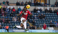 Roarie Deacon of Crawley Town controls the ball during the Sky Bet League 2 match between Wycombe Wanderers and Crawley Town at Adams Park, High Wycombe, England on 28 December 2015. Photo by Andy Rowland / PRiME Media Images