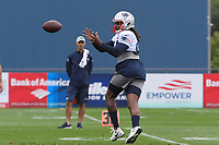 July 26, 2018: New England Patriots wide receiver Cordarrelle Patterson (84) makes a catch at the New England Patriots training camp held on the practice fields at Gillette Stadium, in Foxborough, Massachusetts. Eric Canha/CSM