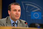Belgium, Brussels - June 12, 2014 -- MEP Manfred WEBER (CSU/Germany) during his first press conference as Chairman of the EPP Group (European People's Party) in the European Parliament -- Photo © HorstWagner.eu