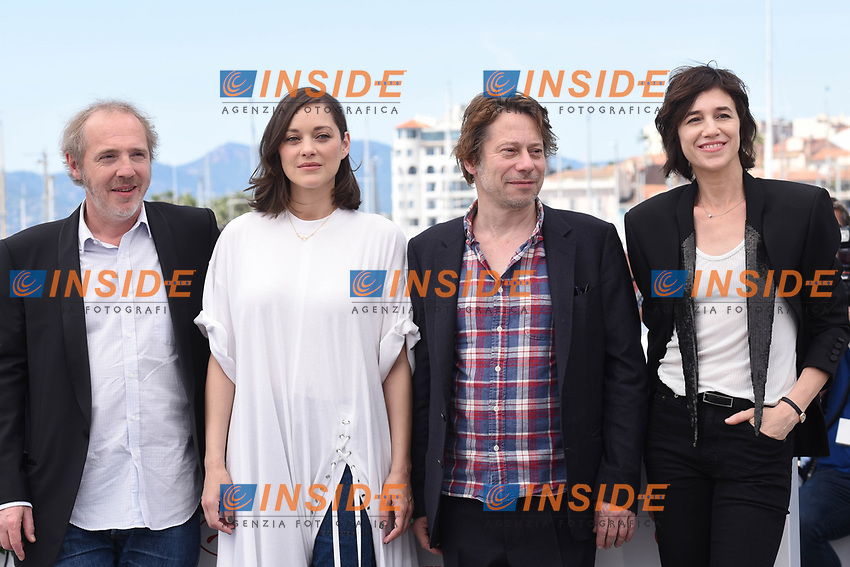 Arnaud deplechin, Marion Cotillard, Mathieu Amalric, Charlotte Gainsbourg<br /> Cannes 17-05-2017 70&deg;Edizione Festival del Cinema di Cannes.<br /> Foto Panoramic / Insidefoto