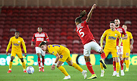 Preston North End's Josh Harrop battles with Middlesbrough's Ryan Shotton<br /> <br /> Photographer Alex Dodd/CameraSport<br /> <br /> The EFL Sky Bet Championship - Middlesbrough v Preston North End - Tuesday 1st October 2019  - Riverside Stadium - Middlesbrough<br /> <br /> World Copyright © 2019 CameraSport. All rights reserved. 43 Linden Ave. Countesthorpe. Leicester. England. LE8 5PG - Tel: +44 (0) 116 277 4147 - admin@camerasport.com - www.camerasport.com