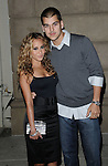 Adrienne Bailon and date Robert Kardashian arriving at the InTouch Weekly Summer Party 2008 held at Social Hollywood Club Los Angeles, Ca. May 22, 2008. Fitzroy Barrett