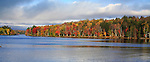 An Autumn Morning On Tupper Lake In The Adirondack Mountains Of New York State, USA