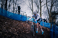 European CX Champion VAN DER POEL Mathieu (NED/Corendon-Circus) going for yet another win<br /> <br /> Brussels Universities Cyclocross (BEL) 2019<br /> Elite Men's Race<br /> DVV Trofee<br /> &copy;kramon