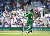 June 18th 2017, The Kia Oval, London, England;  ICC Champions Trophy Cricket Final; India versus Pakistan; Mohammad Hafeez of Pakistan pulls the ball for 4