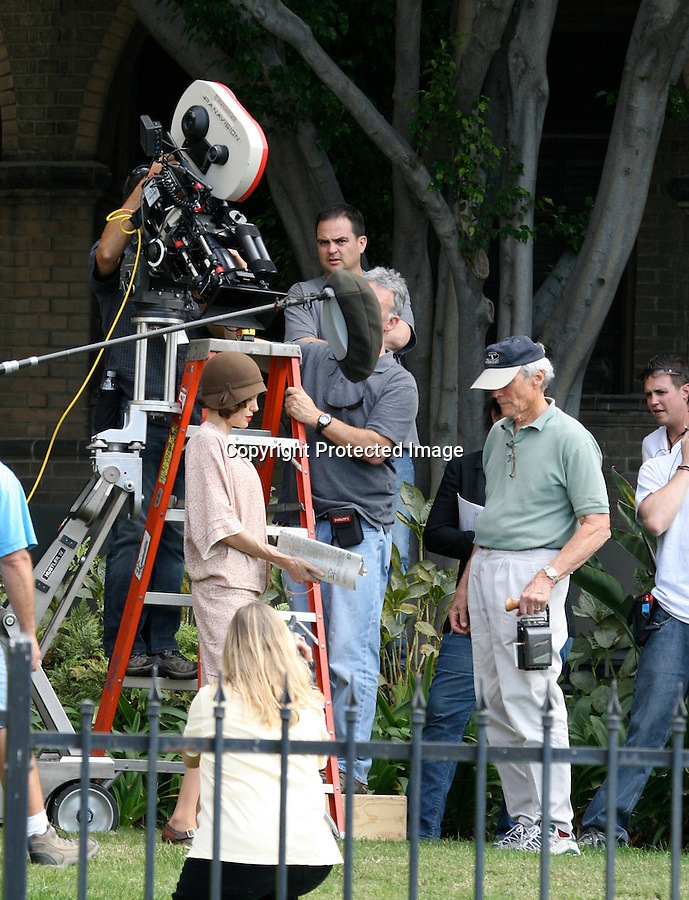 "AbilityFilms@yahoo.com 805-427-3519.october 29th Angelina Jolie filming her movie.'Changeling"" in L.A"