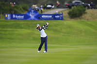 Danielle Kang of Team USA on the 2nd fairway during Day 2 Foursomes at the Solheim Cup 2019, Gleneagles Golf CLub, Auchterarder, Perthshire, Scotland. 14/09/2019.<br /> Picture Thos Caffrey / Golffile.ie<br /> <br /> All photo usage must carry mandatory copyright credit (© Golffile | Thos Caffrey)