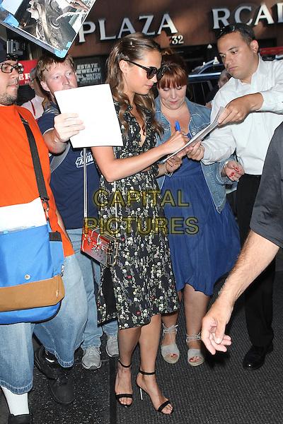 NEW YORK, NY - JULY 21: Alicia Vikander seen on July 21, 2016 in New York City. <br /> CAP/MPI/DC<br /> &copy;DC/MPI/Capital Pictures