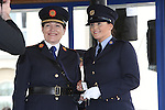 Attending the Garda graduations in Templemore on Thursday were  Garda Commissioner N&oacute;ir&iacute;n O&rsquo;Sullivan presents the Commissioer's Medal to Garda Angela Gavin from Kill, Co. Kildare who will be stationed in Drogheda.<br />  Photograph Liam Burke/Press 22