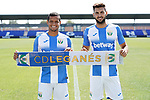 CD Leganes' new players Roberto Rosales (l) and Marc Navarro during their official presentation. July 30, 2019.(ALTERPHOTOS/Acero)