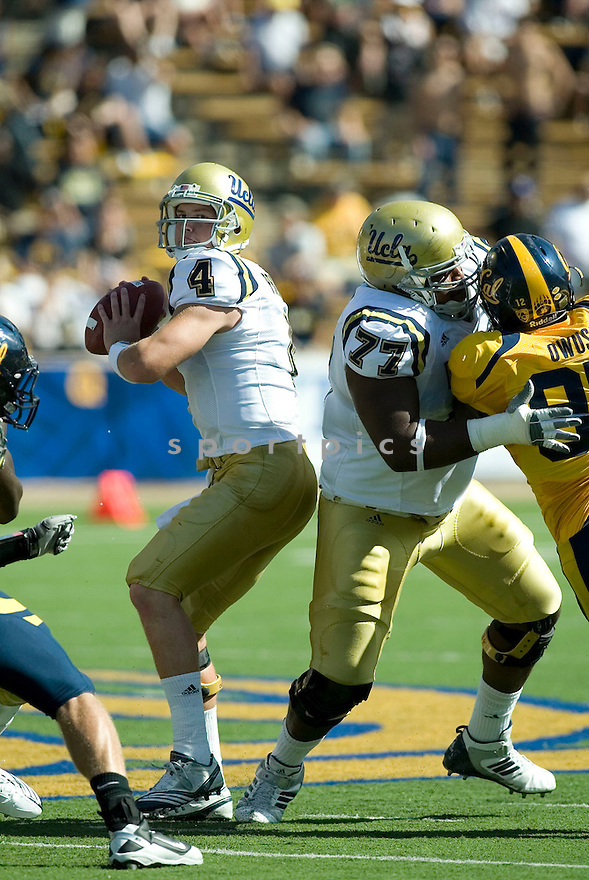 KEVIN PRINCE, of the UCLA Bruins, in action during the Bruins game against the California Golden Bears at Memorial Stadium  on October 09, 2010  in Berkley, California...California  beats the UCLA 35-7