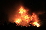 the Halloween Bonfires in the Glen and Baymore Road.Picture Fran Caffrey/www.newsfile.ie.
