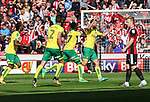 Yanic Wildschut of Norwich City celebrates scoring during the Championship match at Bramall Lane Stadium, Sheffield. Picture date 16th September 2017. Picture credit should read: Jamie Tyerman/Sportimage