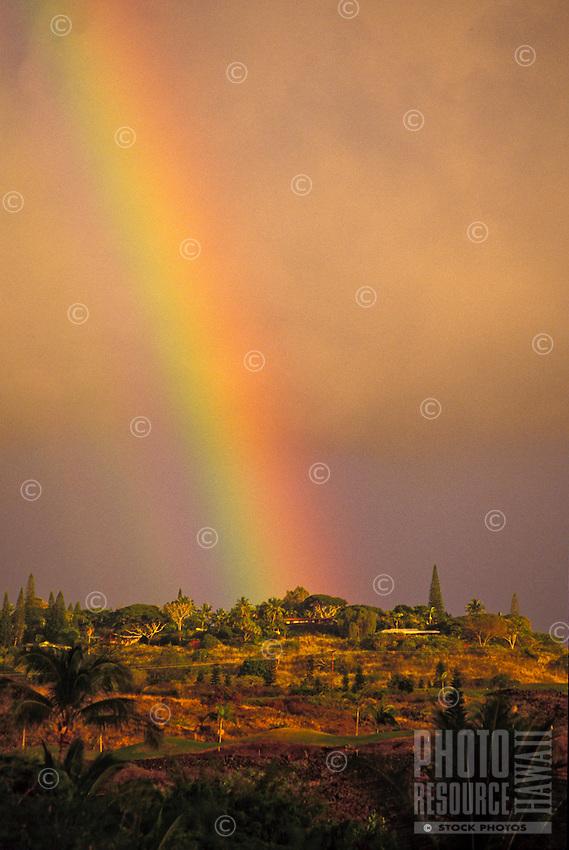 Rainbow over Keauhou ridge, South of Kona, Big Island