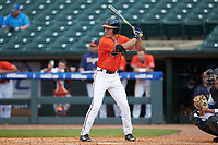 Jake McCarthy (31) of the Virginia Cavaliers at bat against the Duke Blue Devils in Game Seven of the 2017 ACC Baseball Championship at Louisville Slugger Field on May 25, 2017 in Louisville, Kentucky. The Blue Devils defeated the Cavaliers 4-3. (Brian Westerholt/Four Seam Images)