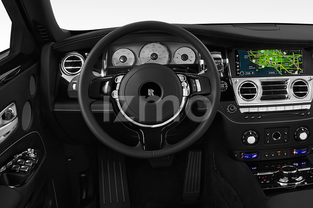 Car pictures of steering wheel view of a 2018 Rollsroyce Ghost - 4 Door Sedan Steering Wheel