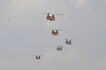 Military helicopters of Egyptian Armed Forces are seen as Egypt reinforces its 2. and 3. armies in the Sinai Peninsula, Egypt on October 27, 2014. Pool / Egyptian Armed Forces / apaimages