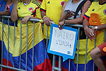 Nairo Quintana (COL) fans at the finish of Stage 2 of the 2019 Tour de France a Team Time Trial running 27.6km from Bruxelles Palais Royal to Brussel Atomium, Belgium. 7th July 2019.<br /> Picture: ASO/| Cyclefile<br /> All photos usage must carry mandatory copyright credit (© Cyclefile | ASO/Thomas Maheux)