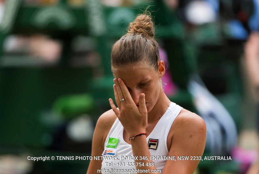 KAROLINA PLISKOVA (CZE)<br /> <br /> TENNIS - THE CHAMPIONSHIPS - WIMBLEDON- ALL ENGLAND LAWN TENNIS AND CROQUET CLUB - ATP - WTA -ITF - WIMBLEDON-SW19, LONDON, GREAT  BRITAIN- 2017  <br /> <br /> <br /> &copy; TENNIS PHOTO NETWORK