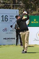 Beyond Hun An (International) on the 16th tee during the First Round - Four Ball of the Presidents Cup 2019, Royal Melbourne Golf Club, Melbourne, Victoria, Australia. 12/12/2019.<br /> Picture Thos Caffrey / Golffile.ie<br /> <br /> All photo usage must carry mandatory copyright credit (© Golffile | Thos Caffrey)