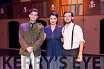 Dylan O'Sullivan as Juan Peron, Clodagh Harrington as Evita and Jamie O'Sullivan as Che at  the Light Opera Society of Tralee production of Evita at Siamsa Tire on Thursday