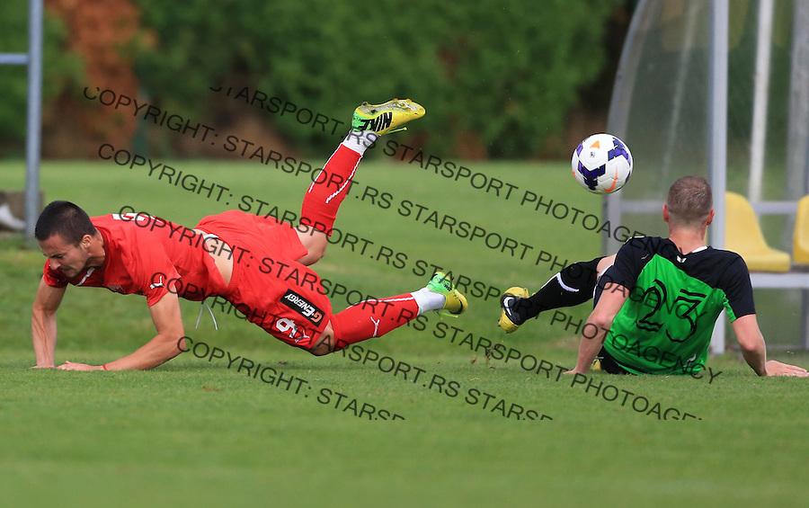 Fudbal season 2013-2014<br /> FK Crvena Zvezda pripreme<br /> Prijateljski mec<br /> Crvena Zvezda v Verzej<br /> Djordje Despotovic(L)<br /> Brezice, 07.09.2014.<br /> foto: Srdjan Stevanovic/Starsportphoto &copy;