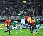Pereira- Deportivo Cali venció 1 gol por 0 a Águilas Doradas, en el partido correspondiente a la octava jornada del Torneo Clausura 2014, desarrollado el 7 de septiembre en el estadio Hernán Ramírez Villegas.