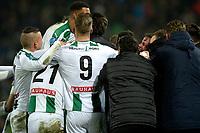 GRONINGEN - Voetbal, FC Groningen - PSV,  Eredivisie , Noordlease stadion, seizoen 2017-2018, 13-12-2017,   Groningen viert de 3-3