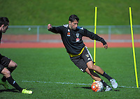 Vinnie Lia in action during the Wellington Phoenix training at Newtown Park, Wellington, New Zealand on Friday, 11 September 2015. Photo: Dave Lintott / lintottphoto.co.nz
