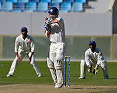 Scotland and Afghanistan national Cricket teams contest the Intercontinental Cup final match at Dubai Sports City Stadium - picture shows Scotland batsman Simon Smith rising to the ball during his 36 run innings - picture by Donald MacLeod 02.12.10 - mobile 07702 319 738 - clanmacleod@btinternet.com - www.donald-macleod.com