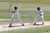 Billy Root hits 4 runs for Notts as Adam Wheater looks on from behind the stumps during Essex CCC vs Nottinghamshire CCC, Specsavers County Championship Division 1 Cricket at The Cloudfm County Ground on 22nd June 2018