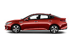 Car Driver side profile view of a 2016 KIA Optima SX 4 Door Sedan Side View