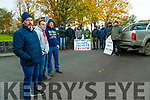 Farmers protesting outside the head office of Kerry Group in Princes street, Tralee on Wednesday morning in foreground are Jerome Crowley, Beaufort, Aidan Coffey Beaufort and Patrick Enright, Castleisland.