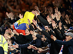 Rangers fans with Colombian flag after Alfredo Morelos scores