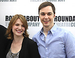 Holley Fain & Jim Parsons.attending the Meet & Greet for the Roundabout Theatre Company's Broadway Production of 'Harvey' at their Rehearsal Studios in New York City. 4/20/2012 © Walter McBride/WM Photography .