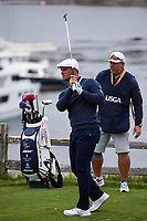Bryson DeChambeau (USA) watches his tee shot on 7 during round 2 of the 2019 US Open, Pebble Beach Golf Links, Monterrey, California, USA. 6/14/2019.<br /> Picture: Golffile | Ken Murray<br /> <br /> All photo usage must carry mandatory copyright credit (© Golffile | Ken Murray)