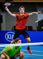 Alphen aan den Rijn, Netherlands, December 15, 2018, Tennispark Nieuwe Sloot, Ned. Loterij NK Tennis,  Semifinal men's doubles: Sander Arends (R) and Matwe Middelkoop (NED):<br /> <br /> Photo: Tennisimages/Henk Koster