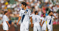 The LA Galaxy defeated the Chicago Fire 4-0 to begin their Major League Soccer (MLS) season victoriously at Home Depot Center stadium in Carson, California on Sunday March 3, 2013.